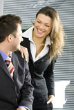 Young Businesswoman Smilling Stock Images