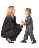 Young businesswoman and son Stock Photos