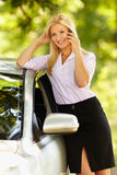 Young businesswoman speaking on mobile phone Royalty Free Stock Image
