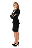 Young businesswoman standing confidently on white Royalty Free Stock Images