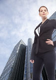 Young businesswoman standing in front of  office building Stock Photography