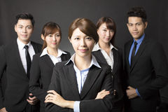 Young businesswoman with successful business team Stock Photography