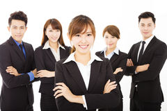 Young businesswoman with successful business team Royalty Free Stock Image