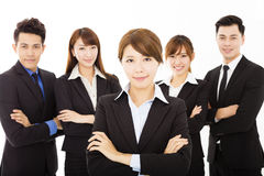 Young businesswoman with successful business team Royalty Free Stock Images