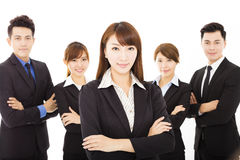 Young businesswoman with successful business team Royalty Free Stock Photo
