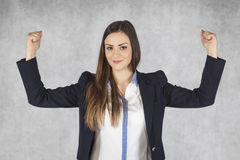 Young businesswoman is successful in the industry Stock Photography