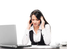 Young businesswoman suffering from a headache Royalty Free Stock Photo