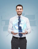 Young businesswoman with tablet pc Royalty Free Stock Images