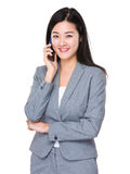 Young businesswoman talk to cellphone Stock Photography