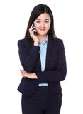 Young businesswoman talk to cellphone Stock Photo