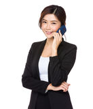 Young businesswoman talk to mobile phone Stock Image