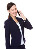 Young businesswoman talk to mobile phone Stock Photos