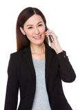Young businesswoman talk via cellphone Stock Image