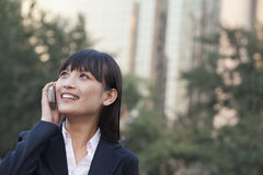 Young Businesswoman Talking on Cell phone Royalty Free Stock Photography