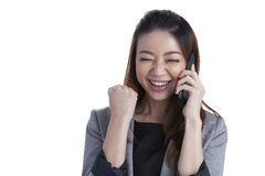 Young Businesswoman talking on mobile phone Royalty Free Stock Images
