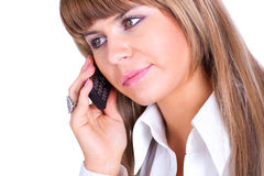 Young businesswoman talking on phone Stock Photos