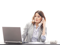 A young businesswoman talking on the phone Royalty Free Stock Image