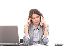 A young businesswoman talking on the phone Royalty Free Stock Photo