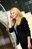Young businesswoman talking on the phone Royalty Free Stock Image