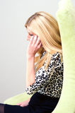 Young businesswoman talking on the phone Royalty Free Stock Photos