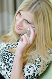 Young businesswoman talking on the phone Royalty Free Stock Images