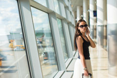 Young businesswoman talking on the phone in Royalty Free Stock Photo
