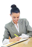 Young businesswoman/teacher working Stock Images