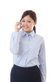 Young businesswoman telephone Stock Image