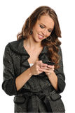Young Businesswoman text messaging Royalty Free Stock Photos