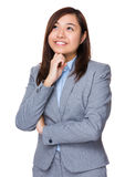 Young Businesswoman think of idea Royalty Free Stock Photos