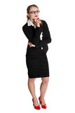 Young businesswoman in thinking. Stock Photo