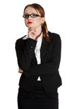 Young businesswoman in thinking. Stock Images