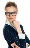 Young businesswoman thinking Royalty Free Stock Photography