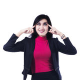 Young Businesswoman Thinking Royalty Free Stock Image