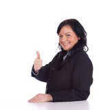 Young businesswoman thumb up Stock Photo