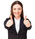 Young businesswoman with thumbs up Stock Image