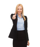 Young businesswoman with thumbs up Royalty Free Stock Photo