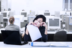 Young Businesswoman Tired Royalty Free Stock Image