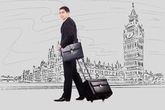 The young businesswoman on travel to london Royalty Free Stock Image