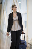 Young businesswoman traveling Royalty Free Stock Photos