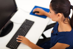 Businesswoman typing Stock Image