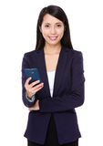 Young businesswoman use of smart phone Stock Image