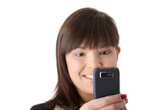 Young businesswoman using cell phone Royalty Free Stock Photo