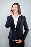 Young Businesswoman Using Cellphone Stock Photos