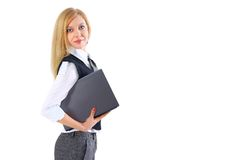 Young businesswoman using her laptop Royalty Free Stock Images