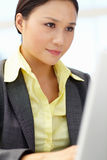 Young businesswoman using laptop Royalty Free Stock Photo