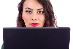 Young businesswoman  using  laptop at the office Royalty Free Stock Photography