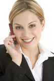 Young Businesswoman Using Mobile Phone Stock Image