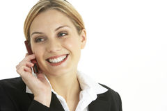 Young Businesswoman Using Mobile Phone Royalty Free Stock Image