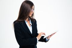 Young businesswoman using tablet computer Stock Photography